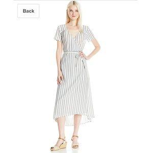 Billabong cotton wrap dress w/ Hi-Lo hemline